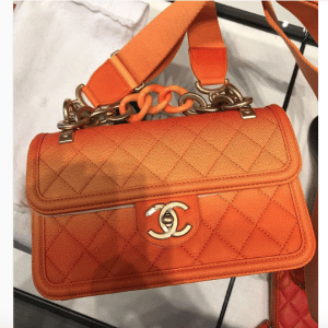 Chanel Orange Sunset By The Sea Flap Bag