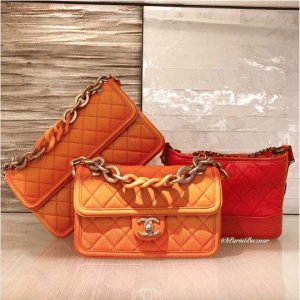 Chanel Orange Sunset By The Sea Flap Bags