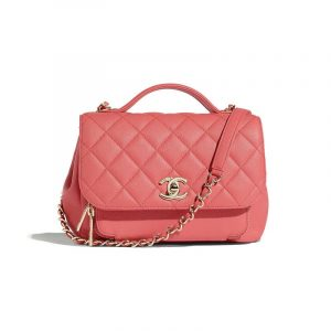 Chanel Pink Business Affinity Small Top Handle Bag