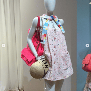 Chanel Pink Fabric Flap and Tote Bags 2