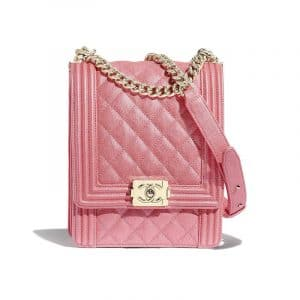 Chanel Pink North:South Boy Flap Bag