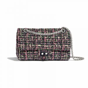 Chanel Pink Tweed 2.55 Reissue Size 225 Bag