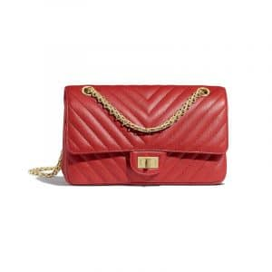 Chanel Red Chevron 2.55 Reissue Size 225 Bag