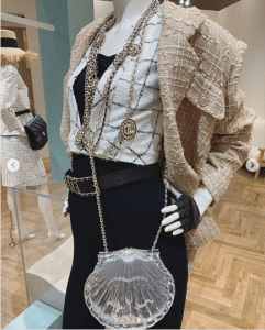 Chanel Transparent Seashell Minaudiere Bag 2