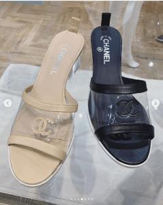 Chanel Transparent/Calfskin Sandals
