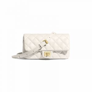 Chanel White 2.55 Reissue Waist Bag