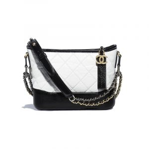 Chanel White:Black Gabrielle Small Hobo Bag