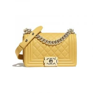 Chanel Yellow Boy Chanel Small Flap Bag