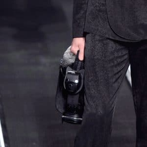 Dior Black/Gray Small Top Handle Bag - Fall 2019