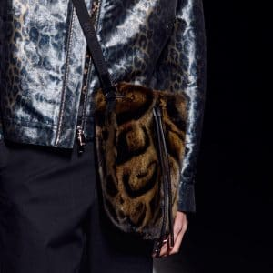 Dior Brown Animal Print Fur Drawstring Messenger Bag - Fall 2019