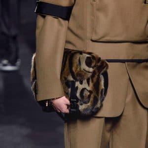 Dior Brown Animal Print Fur Messenger Bag - Fall 2019