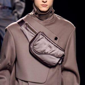 Dior Brown Nylon Messenger Bag - Fall 2019
