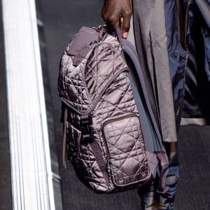 Dior Brown Quilted Nylon Backpack Bag - Fall 2019