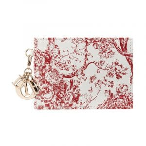 Dior Red/White Hortensia Card Holder
