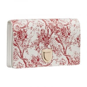 Dior Red/White Hortensia Diorama Clutch Bag