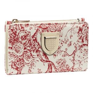Dior Red/White Hortensia Diorama Wallet