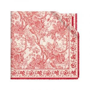 Dior Red/White Hortensia Scarf