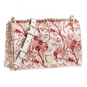 Dior Red/White Hortensia Small Diorama Flap Bag