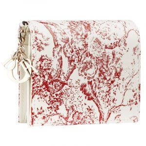 Dior Red/White Hortensia Small Wallet