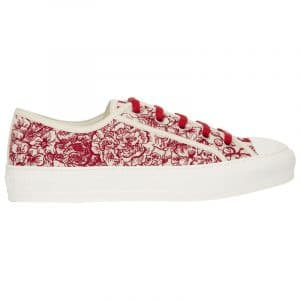 Dior Red/White Hydrangea Walk'N'Dior Sneakers