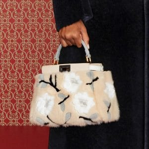 Fendi Beige Floral Fur Peekaboo Mini Bag - Pre-Fall 2019
