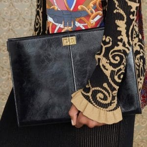 Fendi Black Peekaboo Clutch Bag - Pre-Fall 2019