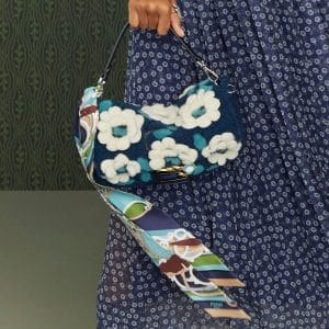 Fendi Blue Floral Baguette Bag - Pre-Fall 2019