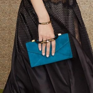 Fendi Blue Suede Envelope Clutch Bag - Pre-Fall 2019