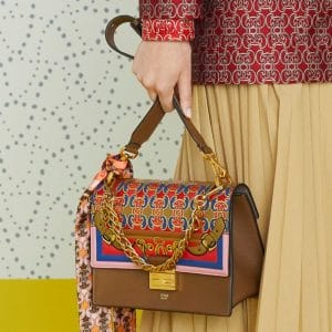 Fendi Brown Multicolor Printed Flap Bag 2 - Pre-Fall 2019
