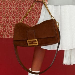 Fendi Brown Suede Baguette Bag - Pre-Fall 2019