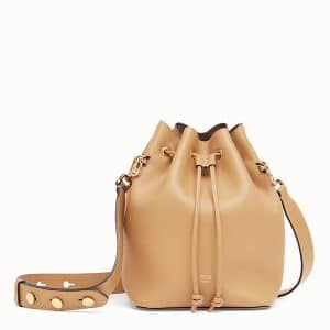 Fendi Light Brown Small Mon Tresor Bucket Bag