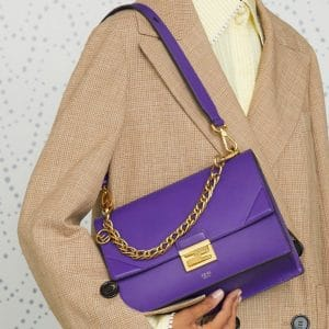 Fendi Purple Flap Bag - Pre-Fall 2019