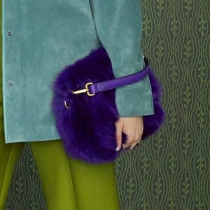 Fendi Purple Fur Flap Bag - Pre-Fall 2019