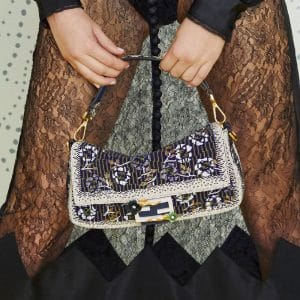 Fendi Purple/White Beaded Baguette Bag - Pre-Fall 2019