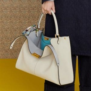 Fendi White Peekaboo Bag - Pre-Fall 2019