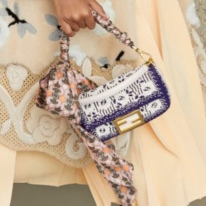 Fendi White/Purple Beaded Mini Baguette Bag 2 - Pre-Fall 2019