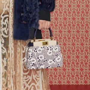 Fendi White/Purple Beaded Peekaboo Mini Bag - Pre-Fall 2019