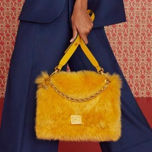 Fendi Yellow Fur Flap Bag - Pre-Fall 2019
