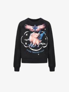 Givenchy Embroidered Sweatshirt with Zodiac Sign Pig Print