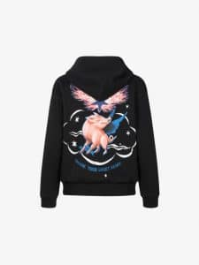 Givenchy Hoodie with Zip and Zodiac Sign Pig Print