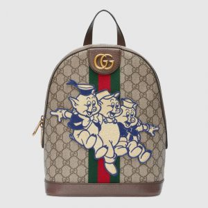 Gucci GG Supreme Three Little Pigs Ophidia GG Backpack Bag