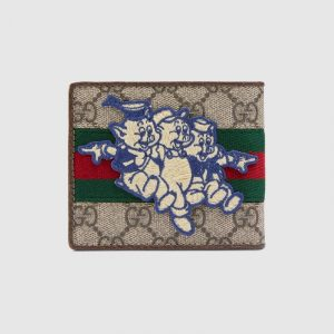 Gucci GG Supreme Three Little Pigs Wallet
