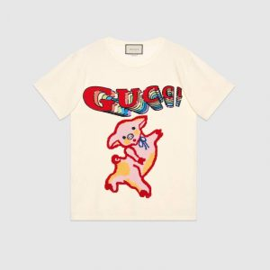 Gucci Piglet Oversize Cotton T-Shirt