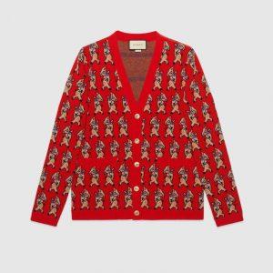 Gucci Piglet Wool Cardigan