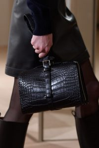 Hermes Black Crocodile Top Handle Bag - Pre-Fall 2019