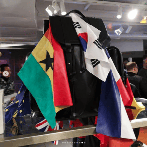 Louis Vuitton Black Backpack Bag with Flags