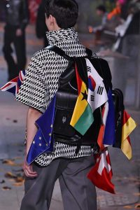 Louis Vuitton Black Backpack Bag with Flags - Fall 2019