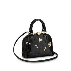 Louis Vuitton Black Epi Alma BB Love Lock Bag