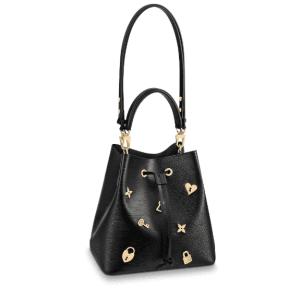 Louis Vuitton Black Epi NéoNoé Love Lock Bag