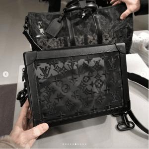 Louis Vuitton Black Monogram Lace Soft Trunk Bag